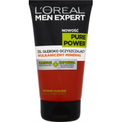L'Oréal Paris Men Expert Pure Power Żel Głęboko Oczyszczający Wulkaniczny Minerał 150 ml