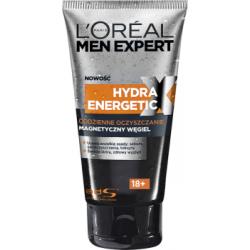 L'Oreal Paris Men Expert Hydra Energetic X 18+ Żel oczyszczający do twarzy Magnetyczny Węgiel 150 ml
