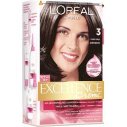 Loreal Paris Excellence Creme Farba do włosów 3 Ciemny brąz