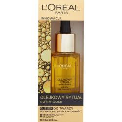 L'Oreal Paris Nutri-Gold Olejkowy Rytuał Olejek do twarzy skóra sucha 30 ml