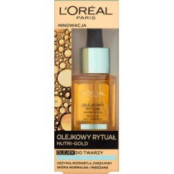 L'Oreal Paris Nutri-Gold Olejkowy Rytuał Olejek do twarzy skóra normalna i mieszana 30 ml