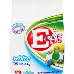 E Active Plus White Proszek do prania 1,3 kg