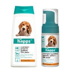 Happs szampon przeciw pchłom dla psów 150ml.