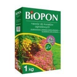 Biopon nawóz do kwiatów ogrodowych granulat 1kg + eliksir do storzyków gratis