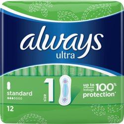 Always Ultra Standard (rozmiar 1) Podpaski, 12 sztuk