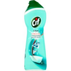 Cif Cream z wybielaczem z mikrokryształkami Mleczko do czyszczenia powierzchni 385 g