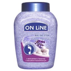 ON LiNE Sól do stóp lawenda/mleczko bawełniane 750 g