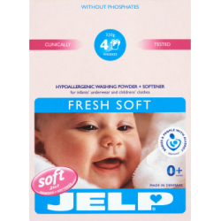 JELP Fresh Soft 2w1 Hipoalergiczny proszek i środek zmiękczający do prania odzieży dziecięcej 320 g