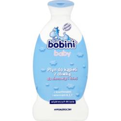Bobini Baby Płyn do kąpieli z oliwką dla niemowląt i dzieci 400 ml