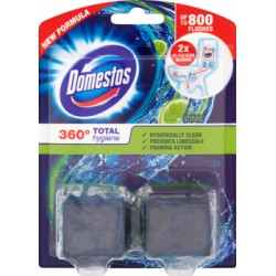 Domestos 360° Total Hygiene Lime Kostka do spłuczki 2 x 50 g