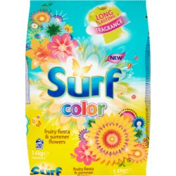 Surf Color Fruity Fiesta & Summer Flowers Proszek do prania 1,4 kg (20 prań)