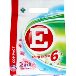 E Active-Enzym 6 2in1 Floral White Proszek do prania 3 kg (40 prań)