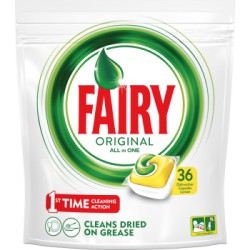 Fairy Original All In One Lemon Tabletki do zmywarki 36 sztuk