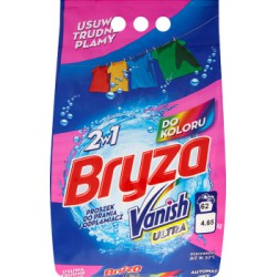 Bryza Vanish Ultra 2w1 do koloru Proszek do prania i odplamiacz 4,65 kg (62 prania)