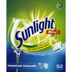 Sunlight All in 1 Tabletki do zmywarki 910 g (52 sztuki)