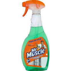 Mr Muscle 5in1 Płyn do szyb i innych powierzchni zielony Rozpylacz 500 ml