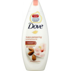 Dove Purely Pampering Almond Cream with Hibiscus Odżywczy żel pod prysznic 250 ml