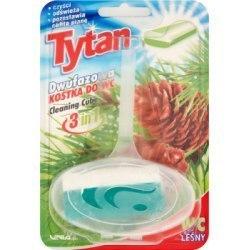 Dwufazowa kostka do wc Tytan leśny koszyczek 40g