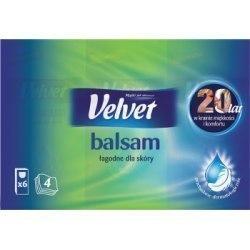 Velvet Balsam Chusteczki higieniczne z ekstraktem z aloesu i nagietka 8 x 9 sztuk