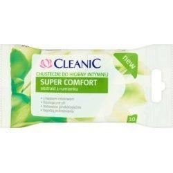 Cleanic Super Comfort Chusteczki do higieny intymnej 10 sztuk