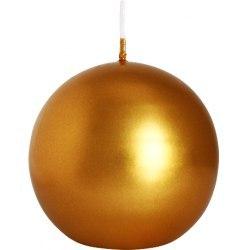 Bispol świeca kula złota 1szt