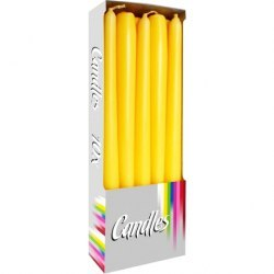 Bispol świeca stożkowa s30-090 żółta 10szt