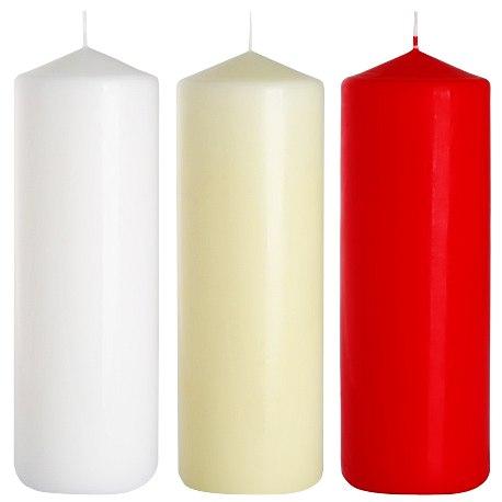 Bispol świeca walec sw80/200 czerwona