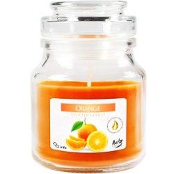 Bispol świeca zapachowa w szkle z wieczkiem słoik Pomarańcza SND71-63