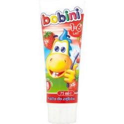 Bobini Pasta do zębów dla dzieci truskawkowa 1-6 lat 75 ml
