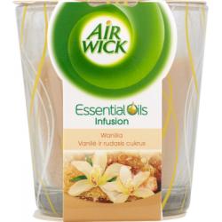 Air Wick Essential Oils Infusion Świeczka o zapachu wanilii 105 g