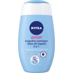 NIVEA Baby Łagodny szampon i płyn do kąpieli 2 w 1 200 ml