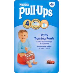 Huggies Pull-Ups Majteczki treningowe pomagające w nauce korzystania z nocnika 4 8-15 kg 16 sztuk