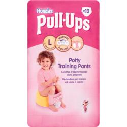Huggies Pull-Ups Majteczki treningowe pomagające w nauce korzystania z nocnika L 16-23 kg 12 Pieces