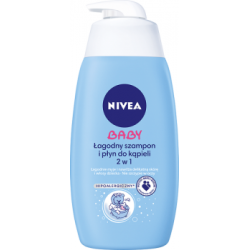 NIVEA Baby Łagodny szampon i płyn do kąpieli 2 w 1 hipoalergiczny 500 ml