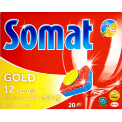 Somat Gold Tabletki do mycia naczyń w zmywarkach 380 g (20 sztuk)