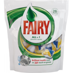 Fairy All-in-1 Yellow Blue Tabletki do zmywarki 26 sztuk
