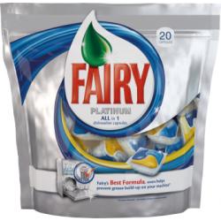 Fairy All-in-1 Platinum Kapsułki do zmywarki 20 sztuk