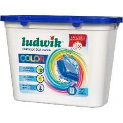 Ludwik kapsułki do prania tkanin kolorowych COLOR 22 szt. 565,4 g