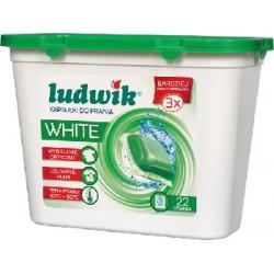 Ludwik kapsułki do prania tkanin białych WHITE 22 szt. 565,4 g