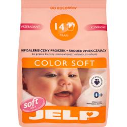 JELP Color Soft Hipoalergiczny proszek i środek zmiękczający do prania odzieży dziecięcej 1,12 kg