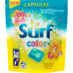Surf Color Fruity Fiesta & Summer Flowers Kapsułki do prania 394 g (15 sztuk)