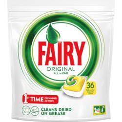 Fairy Original All In One Lemon Tabletki do zmywarki 36 sztuk