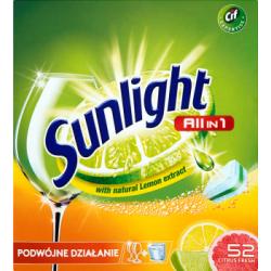 Sunlight All in 1 Citrus Fresh Tabletki do zmywarki 910 g (52 sztuk)