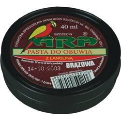 Pasta do obuwia Ara pudełko plastikowe brązowa 40 ml