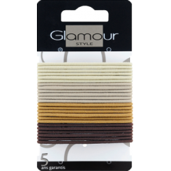 Glamour Gumki cienkie kolorowe 24 sztuki