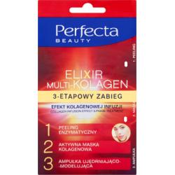 Perfecta Beauty Elixir Multi-Kolagen 3-etapowy zabieg efekt kolagenowej infuzji 13 ml