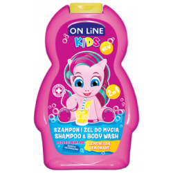 ON LiNE KIDS Szampon i żel do mycia 2 w 1 lemoniada 250 ml