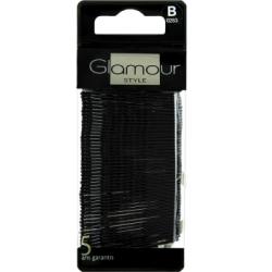 Glamour Wsuwki czarne do włosów 60 sztuk