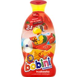 Bobini 2w1 Szampon i płyn do kąpieli truskawka z mleczkiem owsianym 400 ml