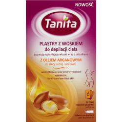 Tanita Plastry z woskiem do depilacji ciała z olejem arganowym do skóry suchej i wrażliwej